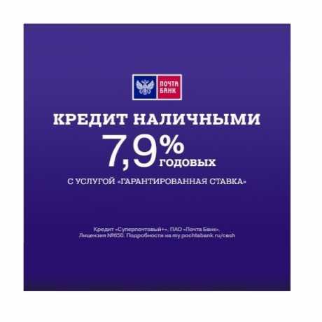 Фото Кредит наличными Почта Банк